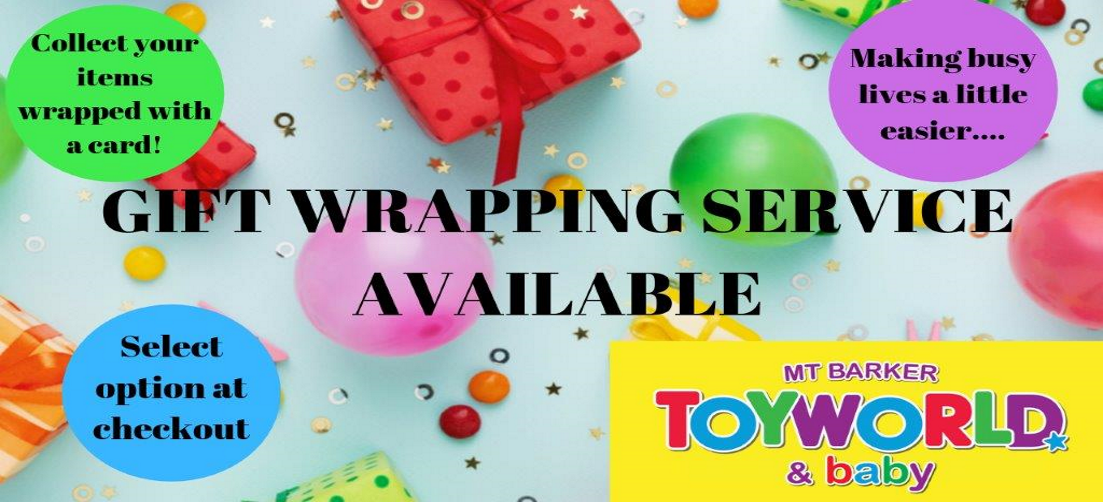 Gift wrapping service available, select it during checkout